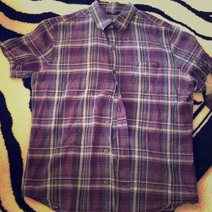 Vince short sleeve plaids shirt